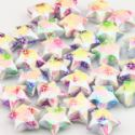 Paper stars, Paper, Assorted colours, 1.5cm, 30  pieces, (PS022)